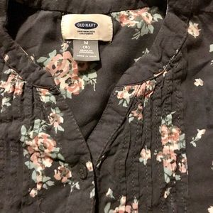 EUC GORGEOUS PINK AND GRAY FLORAL TUNIC!!!